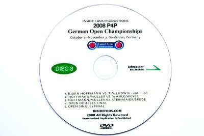 Tischfußball Video DVD Set DM 2008 P4P