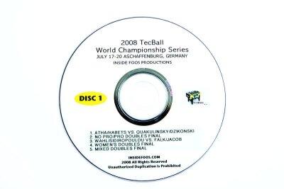 Tischfußball Video DVD Set Tecball WCS 2008