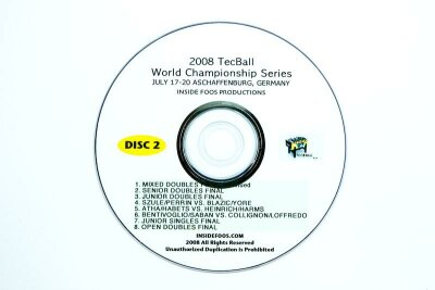 Tischfußball Video DVD Set Tecball WCS 2008