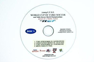 Tischfußball DVD Set World Cup Nantes 2009