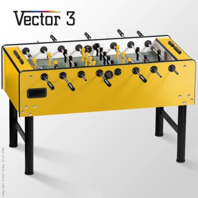 profi kickertisch vector in gelb