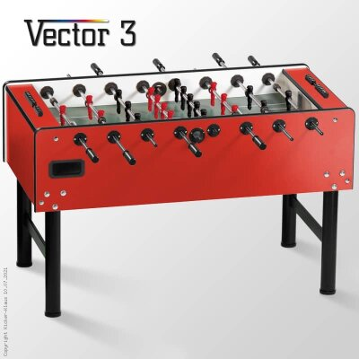 profi kickertisch vector in rot