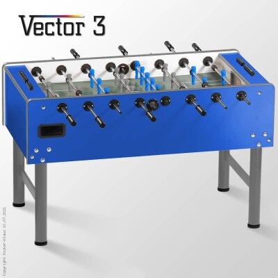 profi kickertisch vector in blau