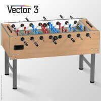 profi kickertisch vector in ahorn