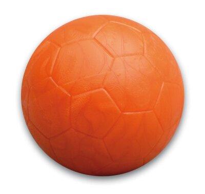 Kickerball mit Fussballmuster in  Orange