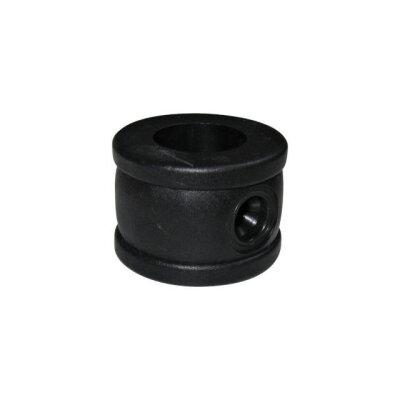 schwarzer stellring aus kunststoff